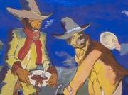 In Robert Colescott's works at Blum & Poe, nothing is black and white