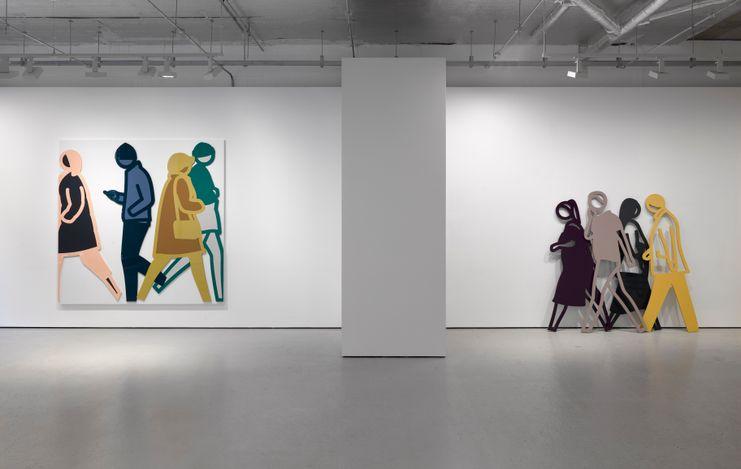 Exhibition view: Julian Opie, Lisson Gallery, Cork Street, London (4 May–12 June 2021). © Julian Opie. Courtesy Lisson Gallery.