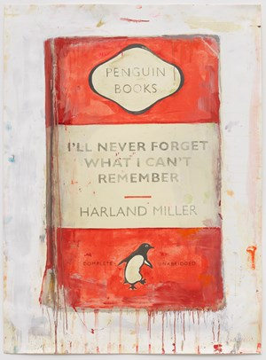 I'll Never Forget What I Can't Remember by Harland Miller contemporary artwork