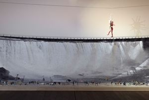 Het anatomisch theater (De waterval) by Patrick Van Caeckenbergh contemporary artwork sculpture