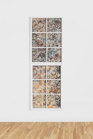 Fenstermalerei #6 by Fredrik Værslev contemporary artwork