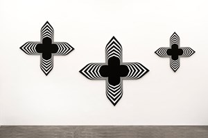 Black Paintings (triptych) by Philippe Decrauzat contemporary artwork