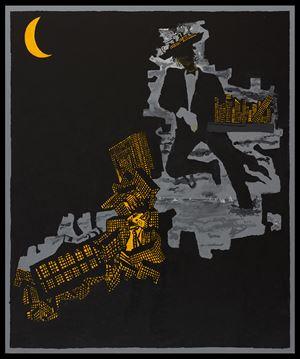 Night (Waiter Wader) by Derek Boshier contemporary artwork
