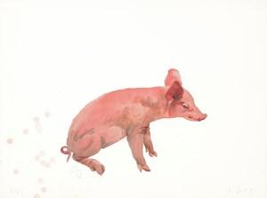 Squatting by Liu Xiaodong contemporary artwork