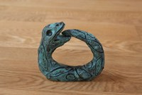 PROVERBS OF HELL (the most sublime act is to set another before you) orouboros wagner wedding ring by Alexander Tovborg contemporary artwork sculpture