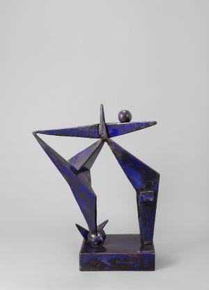 Blue Construction by David Smith contemporary artwork sculpture