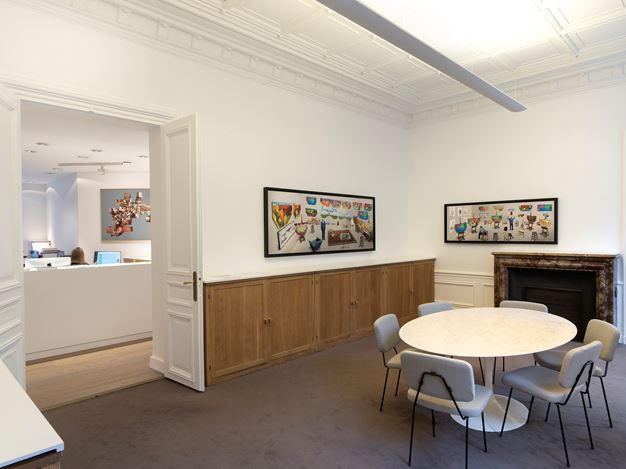 Exhibition view: David Hockney, New Photographic Drawings, Galerie Lelong & Co., 13 Rue de Téhéran, Paris (24 January–9 March 2019). Courtesy Galerie Lelong & Co., Paris.