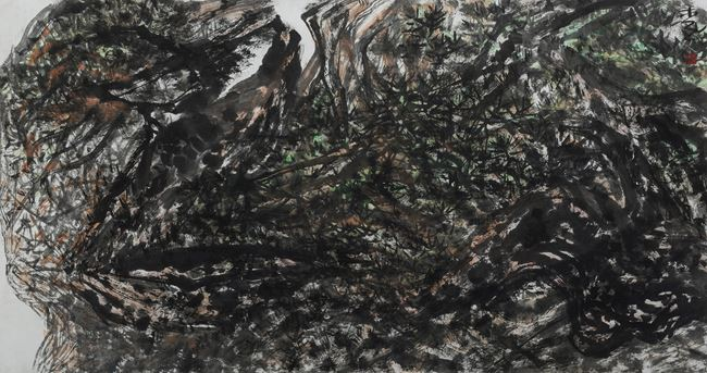 The Boundless Mountains of Home 茫茫家山 by Shen Aiqi contemporary artwork