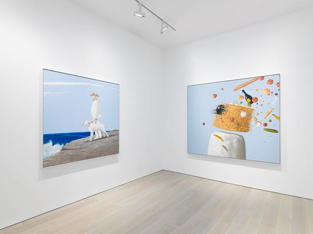 Exhibition view: Julio Larraz, Miles McEnery Gallery, New York(12 July–17 August 2018). Courtesy Miles McEnery Gallery.