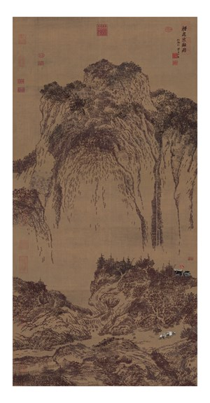 Travelers Among Mountains and Streams 溪山行旅图 by Yao Lu 姚璐 contemporary artwork