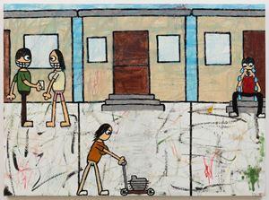Neighborhood by Jay Stuckey contemporary artwork painting