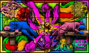 REST by Gilbert & George contemporary artwork