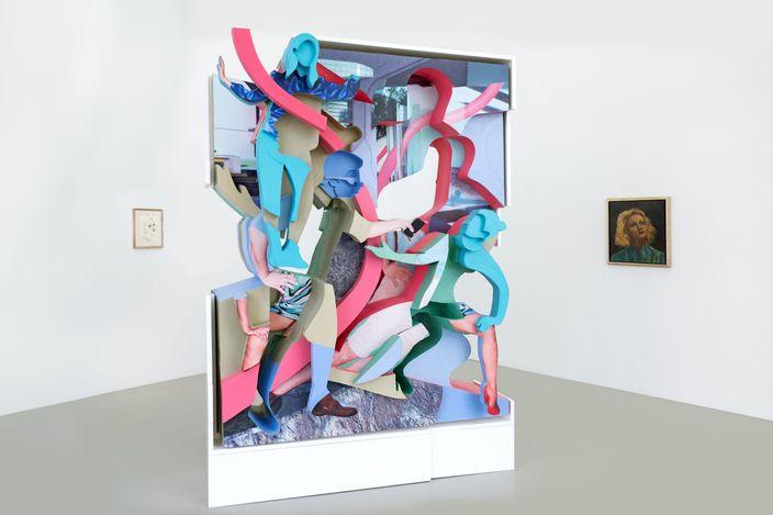 Exhibition view: Group Exhibition, CAMOUFLAGE, MEYER KAINER, Vienna (4 September–29 October 2021). Courtesy Meyer Kainer.