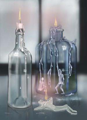 Blue Tan by Louisa Gagliardi contemporary artwork