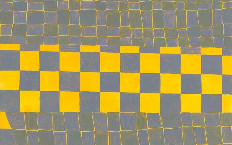 Sam Moyer, Payne 102, (2020) (detail). Oil on bristol. 61 x 48.3 cm. Courtesy the artist and rodolphe janssen.