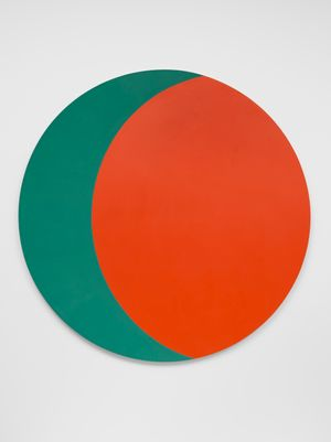 Correspondence Green-Red by Leon Polk Smith contemporary artwork