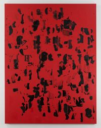Debris Field (Red) #18 by Glenn Ligon contemporary artwork painting, print, drawing