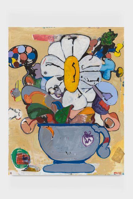 BAP Flower 15 (Highlights) by Eddie Martinez contemporary artwork