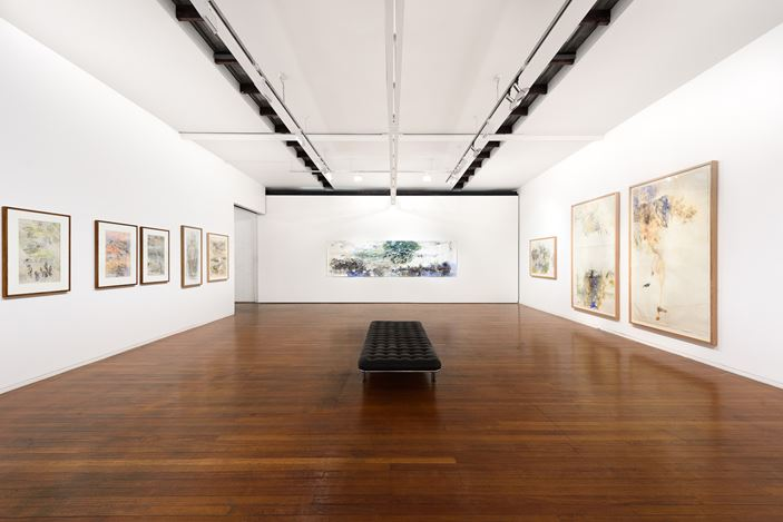 Exhibition view: John Wolseley,One Hundred and One Insect Life Stories, Roslyn Oxley9 Gallery, Sydney (21 March–13 April 2019). Courtesy Roslyn Oxley9 Gallery. Photo: Luis Power