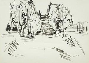 Trees Near Motueka by Toss Woollaston contemporary artwork
