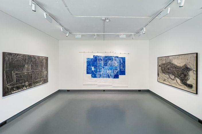Exhibition view:Zhang Meng, Tones and Toes,Tabula Rasa Gallery, London (29 April–2 June 2021). CourtesyTabula Rasa Gallery.