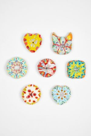 Colorful Donuts Set by Jae Yong Kim contemporary artwork sculpture