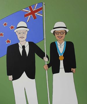 Nana and Grandad, 1994 (New Zealand Gothic) by Ayesha Green contemporary artwork