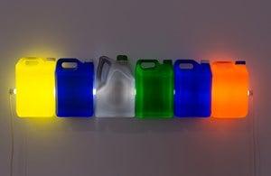 Strait (Yellow Blue Grey Green Blue Orange) by Bill Culbert contemporary artwork