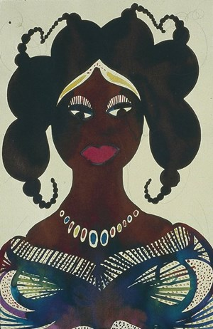 Untitled by Chris Ofili contemporary artwork