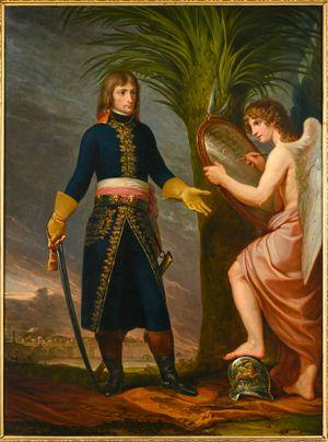 Napoleon Bonaparte with the Genius of Victory by Andrea Appiani contemporary artwork