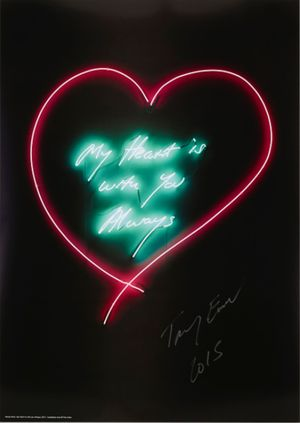 My Heart is with you Always by Tracey Emin contemporary artwork