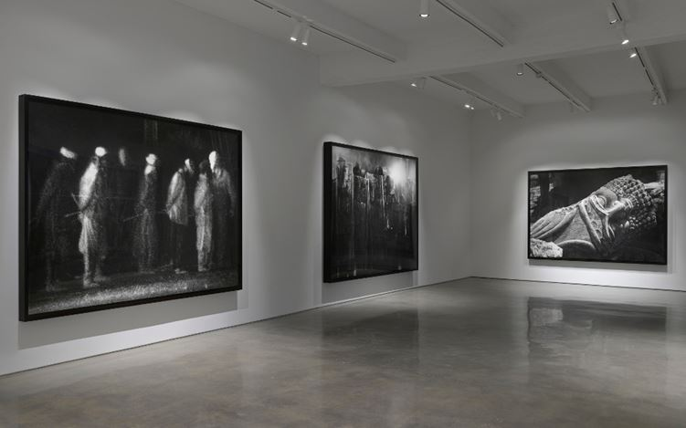 Exhibition view: Robert Longo, The Destroyer Cycle, Metro Pictures, New York (3 May–17 June 2017). Courtesy of the artist and Metro Pictures. Photo: Genevieve Hanson.