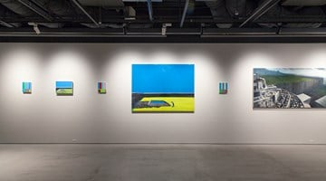 Contemporary art exhibition, Naoya Inose, Blue at The Club, Tokyo