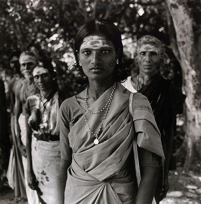 Pilgrims, Madutai, India by Rosalind Fox Solomon contemporary artwork