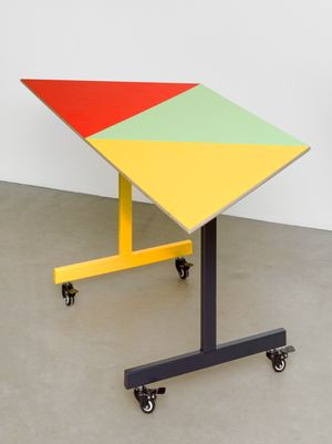 Conference table #3 by Amalia Pica contemporary artwork