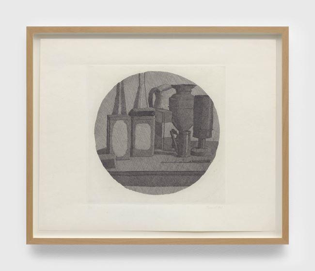 Grande natura morta con undici oggetti un tondo (Large still life with eleven objects a round) by Giorgio Morandi contemporary artwork