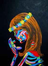 Reflection of Skull by Bradley Theodore contemporary artwork painting