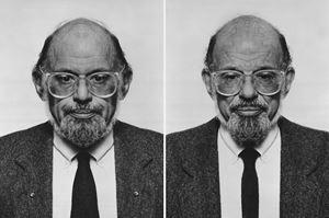 Allen Ginsberg (diptych) by Jiří David contemporary artwork