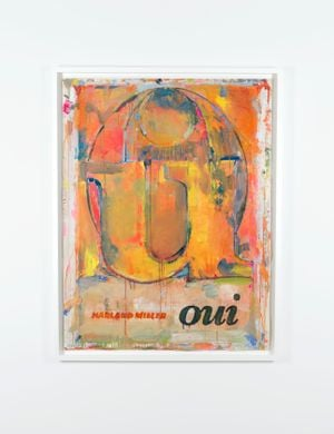 Oui by Harland Miller contemporary artwork painting, works on paper, drawing