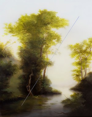 Landscape with Meteor Strike by Sam Leach contemporary artwork