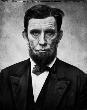 Alexander Gardner/ Abraham Lincoln (1863) by Sandro Miller contemporary artwork