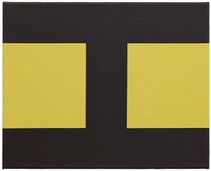 Basics on Composition A by Helmut Federle contemporary artwork
