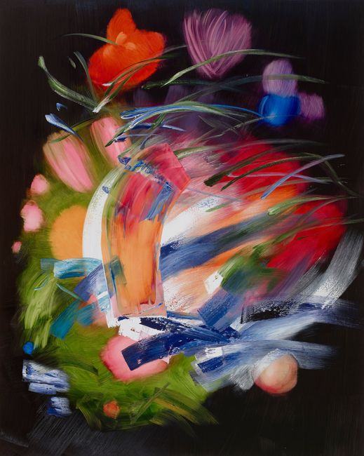 Flowers in a Glass Vase VI by Elise Ansel contemporary artwork