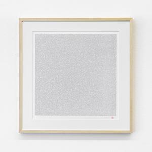 Innumerable Counts Square - handwritten font by Tatsuo Miyajima contemporary artwork