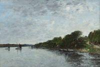 Rivière en Bretagne by Eugène Boudin contemporary artwork painting, works on paper
