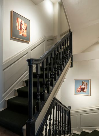 Exhibition view:David Hockney, Family and Friends, Offer Waterman, London (4 June–7 July 2021). Courtesy Offer Waterman.