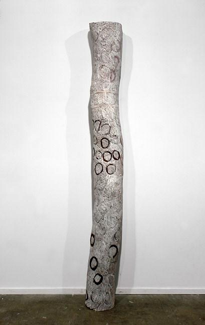 Black Circles by Nyapanyapa Yunupiŋu contemporary artwork