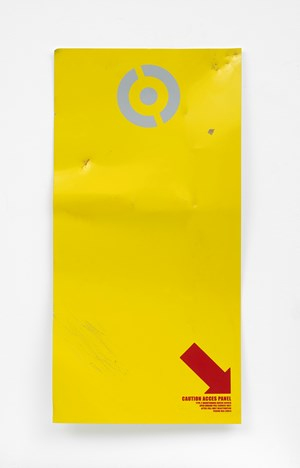 Untitled (caution access panel) by Oliver Payne contemporary artwork
