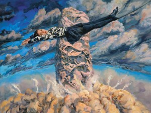 A Rising Gale Sweeps the Clouds across the Sky by Yu Hong contemporary artwork