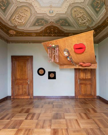 Exhibition view: Group Exhibition, Rebel Archives Curated by Sofia Gotti,Mendes Wood DM at Villa Era,Vigliano Biellese, Italy (31 May–17 July 2021). CourtesyMendes Wood DM. Photo: Nicola Gnesi.